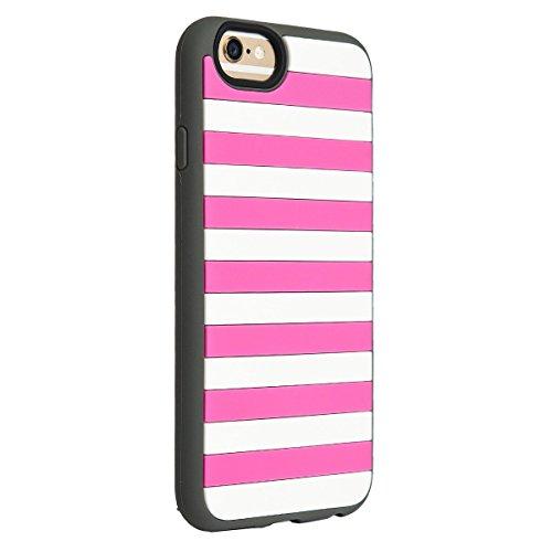 Agent18 IA112ST-354 Stripe Vest Case für Apple iPhone 6 pink/grau