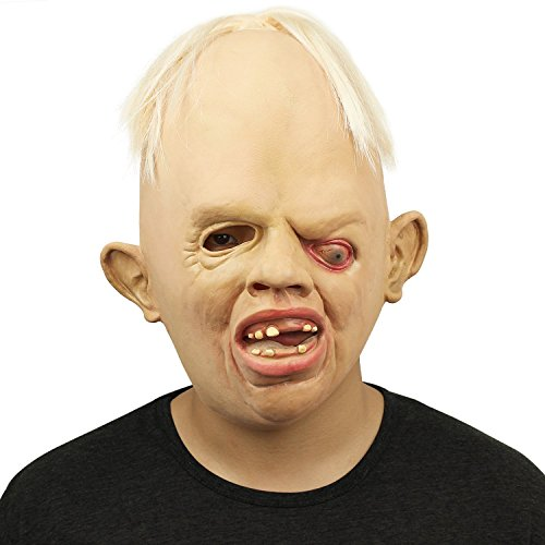WAQIA Novelty Latex Rubber Creepy Scary Ugly Baby Head Mask Halloween Party Costume (Scary Baby Costumes For Halloween)