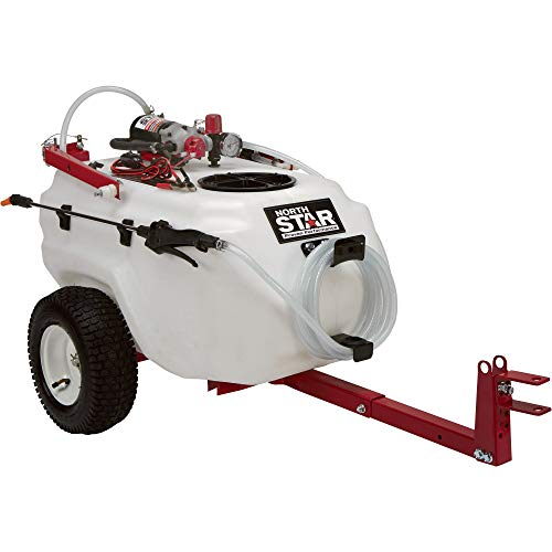 NorthStar Tow-Behind Trailer Boom Broadcast and Spot Sprayer - 21-Gallon Capacity, 2.2 GPM, 12 Volt DC