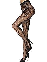 Women Fishnet Stocking Pantyhose Sexy Charming Pattern Thigh Hi Black Lace Tights