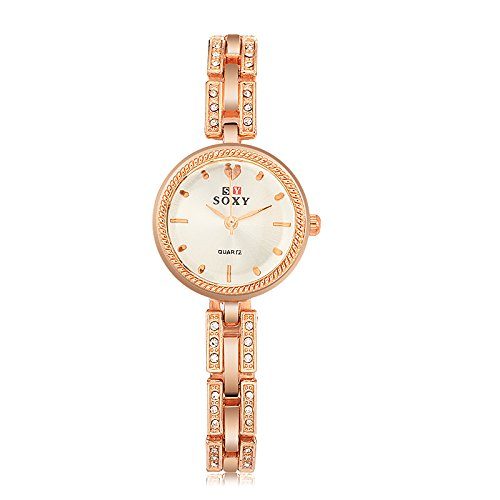 Women's 'Love Scale' Quartz Rose Gold Casual Wrist Watch and Bangle with Crystal, Fashion Dress Bracelet Watches for Women Ladies by KOKOG (Image #3)