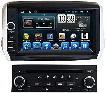 Radio AGW GPS WiFi para Peugeot 208 DVD CD Bluetooth USB SD (Android procesador 2 GHz): Amazon.es: Electrónica