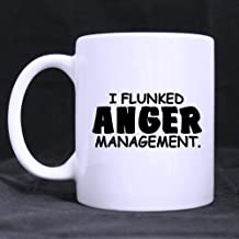 Funny Gift - Funny Quotes - I FLUNKED ANGER MANAGEMENT Morphing Coffee Mug,Tea Cup, Ceramic Material Mugs,11oz