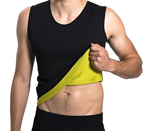 Hisweet Body Shaper for Men Tummy Neoprene Slimming Tank Top Vest Weight Loss Gym Shirt for Workout