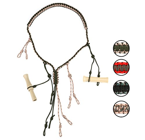 Pheasant Call - Hunting Game Calls Lanyard Paracord With Adjustable Hoops For Holding Any Size Of Duck Calls,Goose Calls, Pheasant Calls,Waterfowl Calls,Predator Calls Securely
