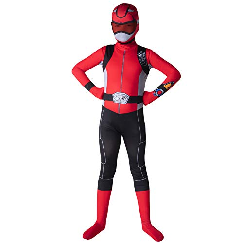 Cheap Power Ranger Morphsuit (Morphsuits Official Kids Red Power Rangers Costume - Medium (Age)