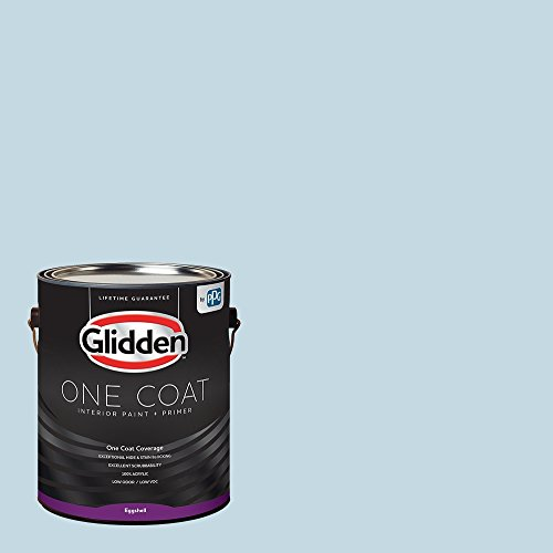 Glidden Interior Paint + Primer: Blue/Blue Pearl, One Coat, Eggshell, 1-Gallon