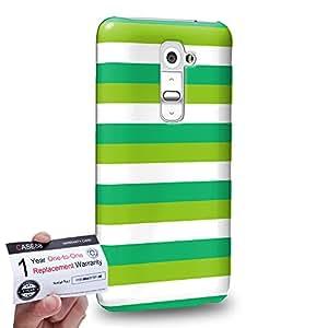 Case88 [LG G2] 3D impresa Carcasa/Funda dura para & Tarjeta de garantía - Art Design Stripe St Patrick