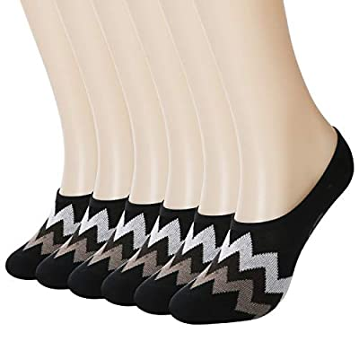 +MD 6 Pack No Show Liner Socks for Women Odor Control Bamboo Invisible Socks with Non Slip for Flats, Loafer, Boat Shoes Black7-9 at Amazon Women's Clothing store