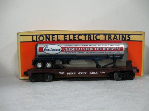 (Lionel 52083 Pennsylvania Flat Car with Eastwood Tanker Truck O Gauge )