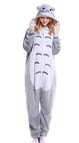 Totoro Dress Costume (Tonwhar Unisex Adult Pajamas Costume Cosplay Homewear Lounge Wear (L(Height:165cm-173cm), Totoro))