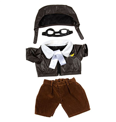 Aviator Bear (Pilot Outfit with Goggles Teddy Bear Clothes Fit 14