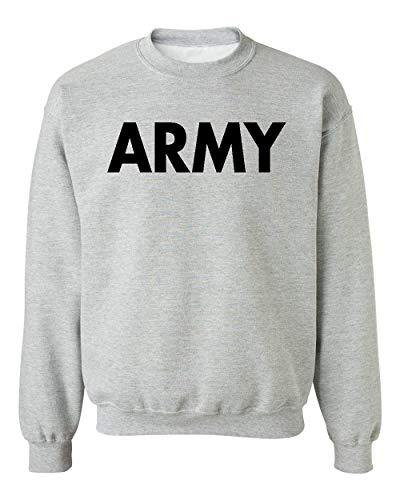 Army Crewneck Sweatshirt - Promotion & Beyond US Military Gear Army Training PT Crewneck Sweatshirt, M, H. Grey