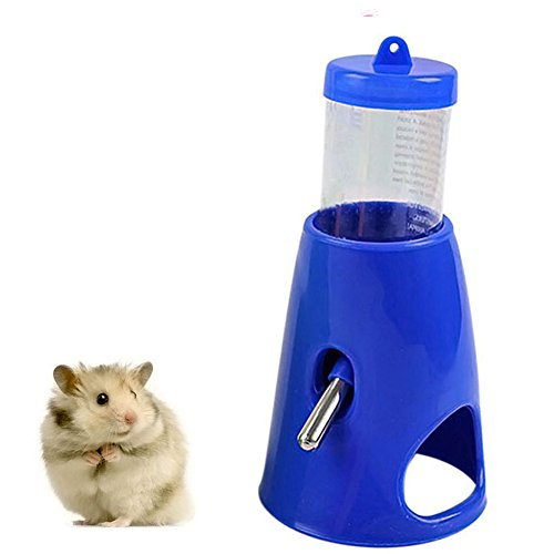 B.C Pet Small Animals Hamster Hideout Drinking Waterer 2-in-1 Water Bottle with Base Hut for Small Animals PBA Free ()