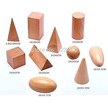 Syhonic Wooden Montessori Mystery Bag Geometry Blocks Set Educational Cognitive Toys 10pcs/set