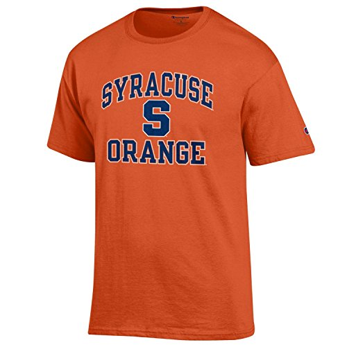 Champion NCAA Men's Shirt Short Sleeve Officially Licensed Team Color Tee, Syracuse Orange, Medium
