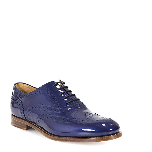 DE00329LPF0V41 Donna CHURCH'S Pelle Blu Stringate BEx1qwa