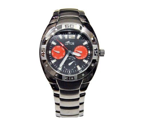 Reloj Hombre Lotus ref. 15333/4 En Acero quadrante Negro Fecha: Amazon.es: Relojes