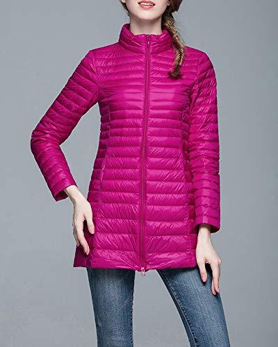 Rossa A Giacche In E Donne Forma Guocu Medio Rosa Dimagrire Delle Collare Standing Di Grandi Lungo Dimensioni aUq6xRHwz6