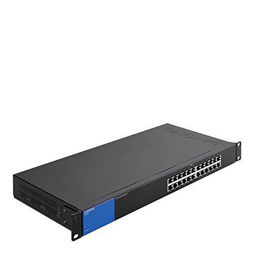 Linksys Business LGS124 24-Port Rackmount Gigabit Ethernet Unmanaged Network Switch I Metal - Switch Rackmount Metal