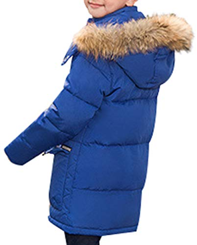 Parka Puffer Hooded Coat Blue Style Padded Mid SellerFun Overcoat Duck Winter Thick Down Jacket Boy A 0fwwagt
