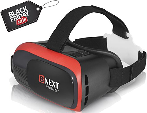 VR Headset for iPhone & Samsung [All Android] Virtual Reality Glasses - Play Your Best Mobile Games & 360 Movies With Soft & Comfortable New 3D Goggles Plus Special Adjustable Eye System