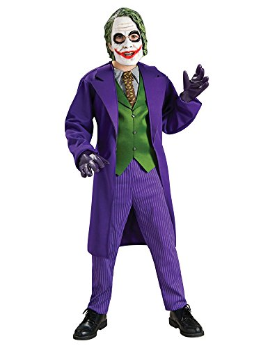 Batman The Dark Knight Deluxe The Joker Costume, Child's Small (The Joker Fancy Dress Costume Dark Knight)