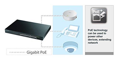 Zyxel 8-Port Gigabit Switch, 70W PoE+, Easy Smart Managed, Fanless, (GS1900-8HP) by ZyXEL (Image #1)