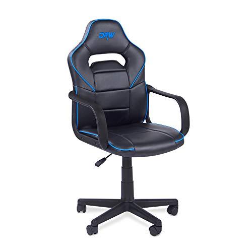 Adec - Silla gaming, sillon de estudio o despacho, modelo gamer DRW, color