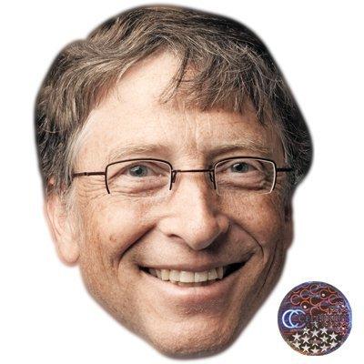 - Bill Gates Celebrity Mask, Card Face and Fancy Dress Mask