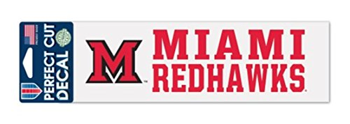 NCAA Miami University of Ohio Redhawks 3 x 10 inch Perfect Cut Decal