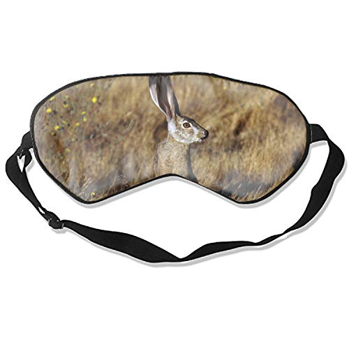 Black Tailed Jackrabbit Animal Cute Sleep Eye Mask, Therapy for Insomnia Puffy Eyes, Super Soft and Light, for Sleeping, Shift Work,Blindfold Eyeshade for Men and Women kid Black Tailed Jack Rabbit