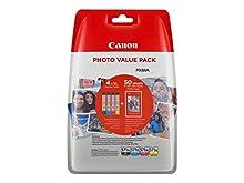 Canon CLI-571XL 4 Cartuchos de tinta BK/C/M/Y XL para Impresora de Inyeccion Pixma TS5050,5055,5053,5051,6050,6051,8050,8053,8052,8051,9055,9050MG5750,5751,5752,6850,6851,6852,6853,7750,7751,7752,7753