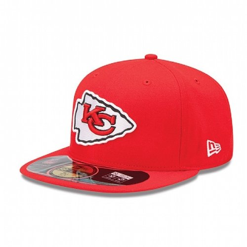 NFL Kansas City Chiefs On Field 5950 Game Cap, Red, 7 1/8