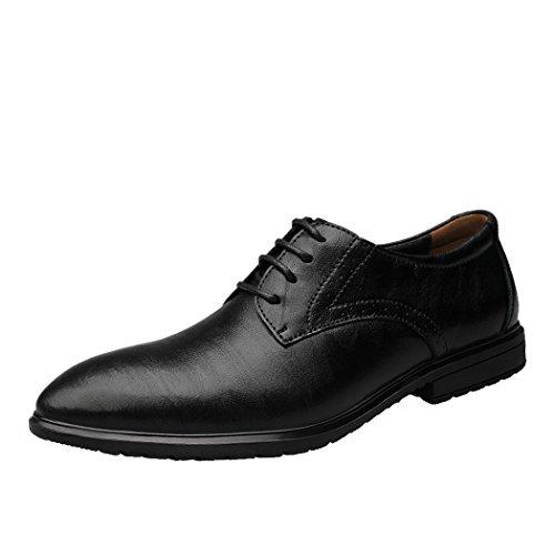 Sole Lorence Mens Altezza Crescente Ascensore Scarpe Formale Business In Pelle Vestito Oxford 2.36 Nero Più Alto
