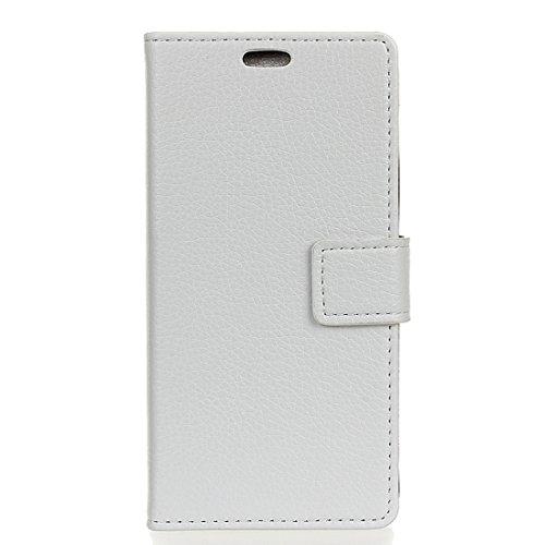 Protege tu iPhone, Para el iPhone 8 Litchi Textura horizontal Flip caja de cuero con titular y ranuras para tarjetas y marco de la carpeta y de la foto, pequeña cantidad recomendada antes del lanzamie Blanco