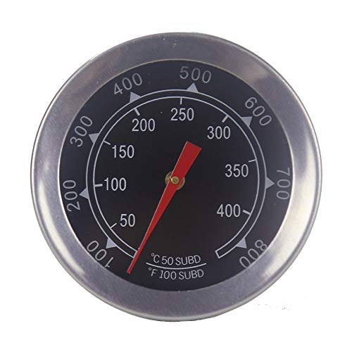 Sougem Grill Thermometers 2″ Stainless Steel BBQ Grills Pit Wood Smokers High Temperature Gauge Thermometer Replacement Gas Grill Charcoal Grill.