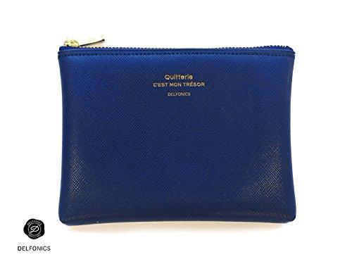[DELFONICS] Quitterie Pouch Size S 500229 Dark Blue