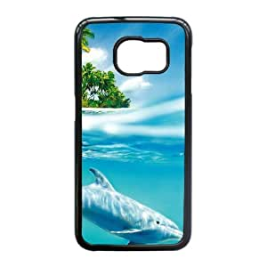 Durable Material Phone Case With Dolphin Image On The Back For Samsung Galaxy S6