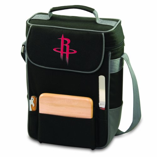 NBA Houston Rockets Duet Insulated 2-Bottle Wine and Cheese Tote