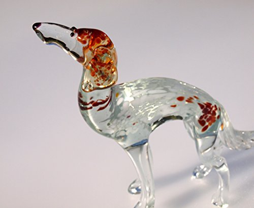 Borzoi Figurine (Glass Borzoi Dog)