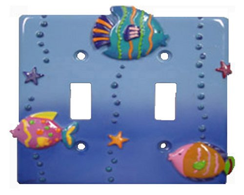 Fish Playground Decorative Switchplate Double toggle switch plate (Double Decorative Switchplate)