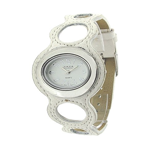 ing Design White Dial & Leatherette Strap Watch LLB864 ()