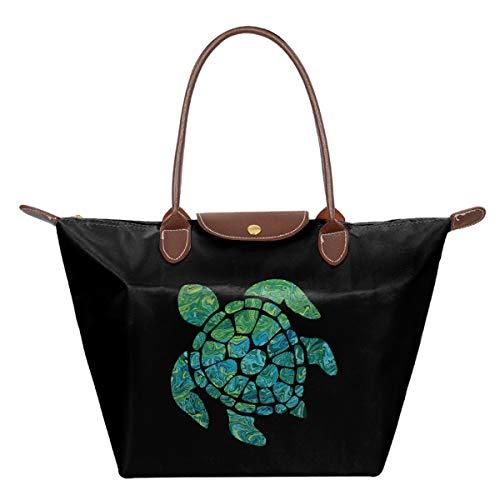 YDIW-BAG2 Sea Turtle Womens Foldable Dumpling Single Shoulder Handbag Waterproof Beach Bags for Travel