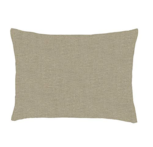 Luxury Small Lumbar Washed Soft Organic 100 Pure Linen Flax Rectangle Pillow Accent Toss Sham Cover Reversible Oblong Decorative Brown Cases Tan Beige Rectangular Throw Pillows Protector Covers 12x16 ()