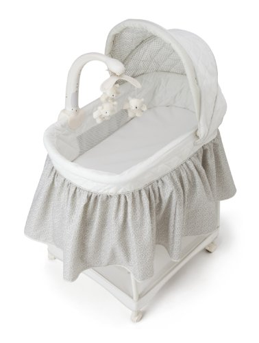 Delta Children Deluxe Gliding Bassinet, Silver Lining  by Delta Children (Image #4)