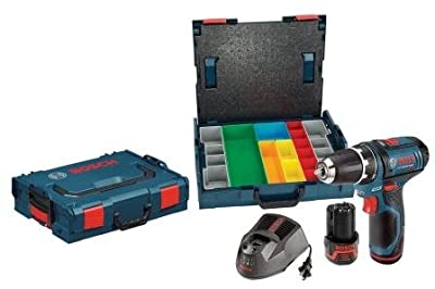 Bosch PS31-2AL1A 12-Volt Lithium-Ion 3/8-Inch Drill/Driver with 2 L-BOXX Cases, 2 Batteries and Charger