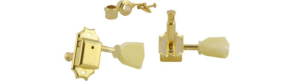 Kluson 3-per-Side Tuning Machines Gold