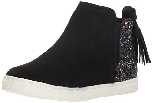 28a484a72e641 Dolce Vita Girls' Zada Sneaker, Black Microsuede, 3 M US Little Kid
