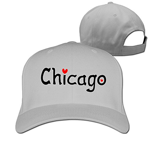 Love Chicago Unisex Adjustable Basketball Hat & Cap (60's Diner Girl Costume)